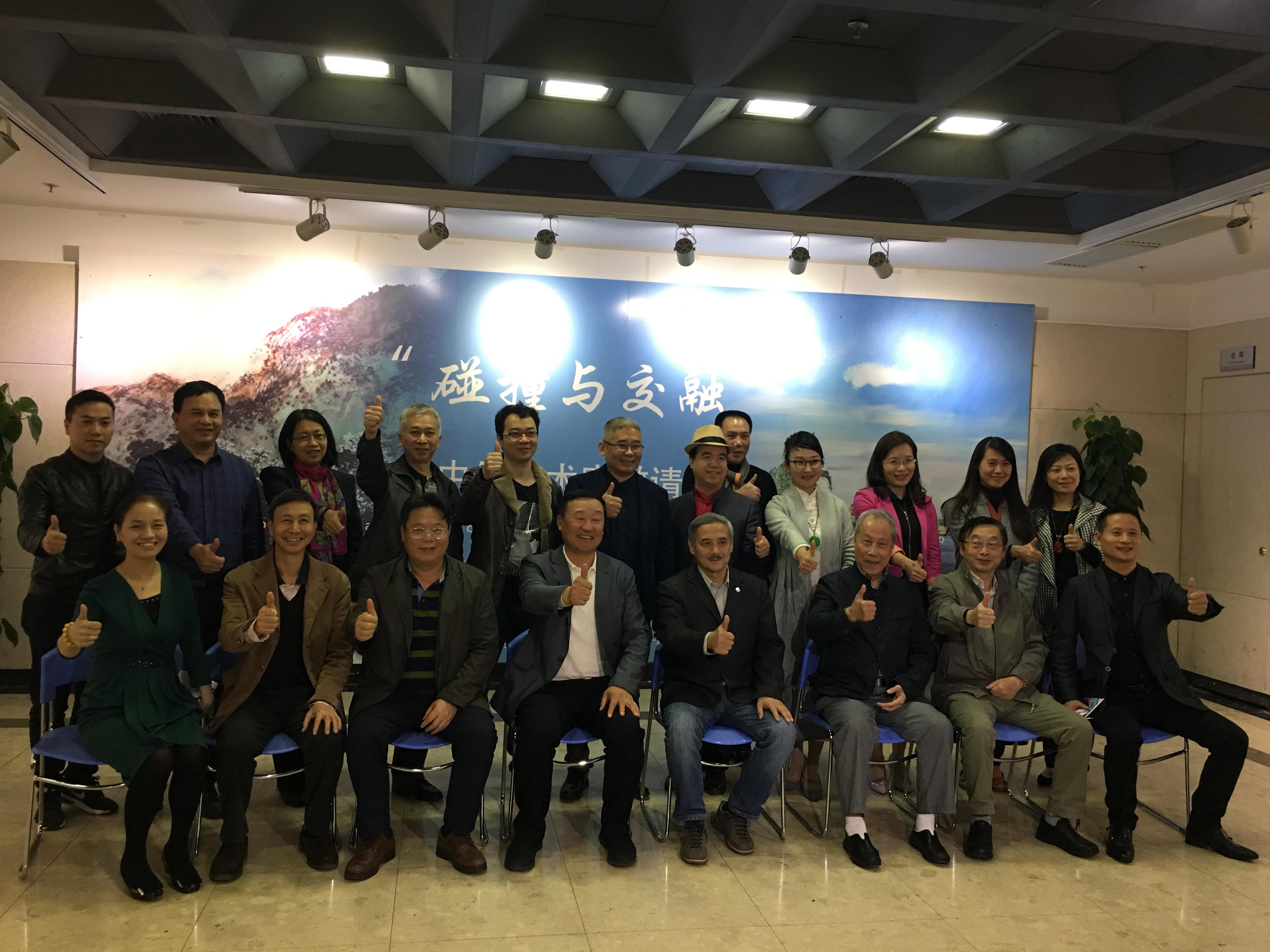 中国俄罗斯艺术家邀请展领导嘉宾合照